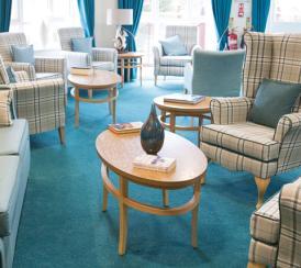 The communal lounge at St Bartholomew's Court.