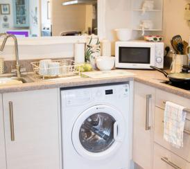 A typical kitchen within an individual apartment at St Bartholomew's Court