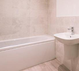 Example bathroom in one of our Station Square apartments.