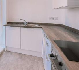 Example kitchen in one of our Station Square apartments.