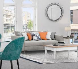 Example lounge area in one of our Station Square apartments in Harrogate.