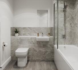 Watling Gate show home family bathroom