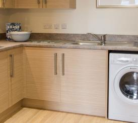 typical kitchen area within each apartment at Wimborne House