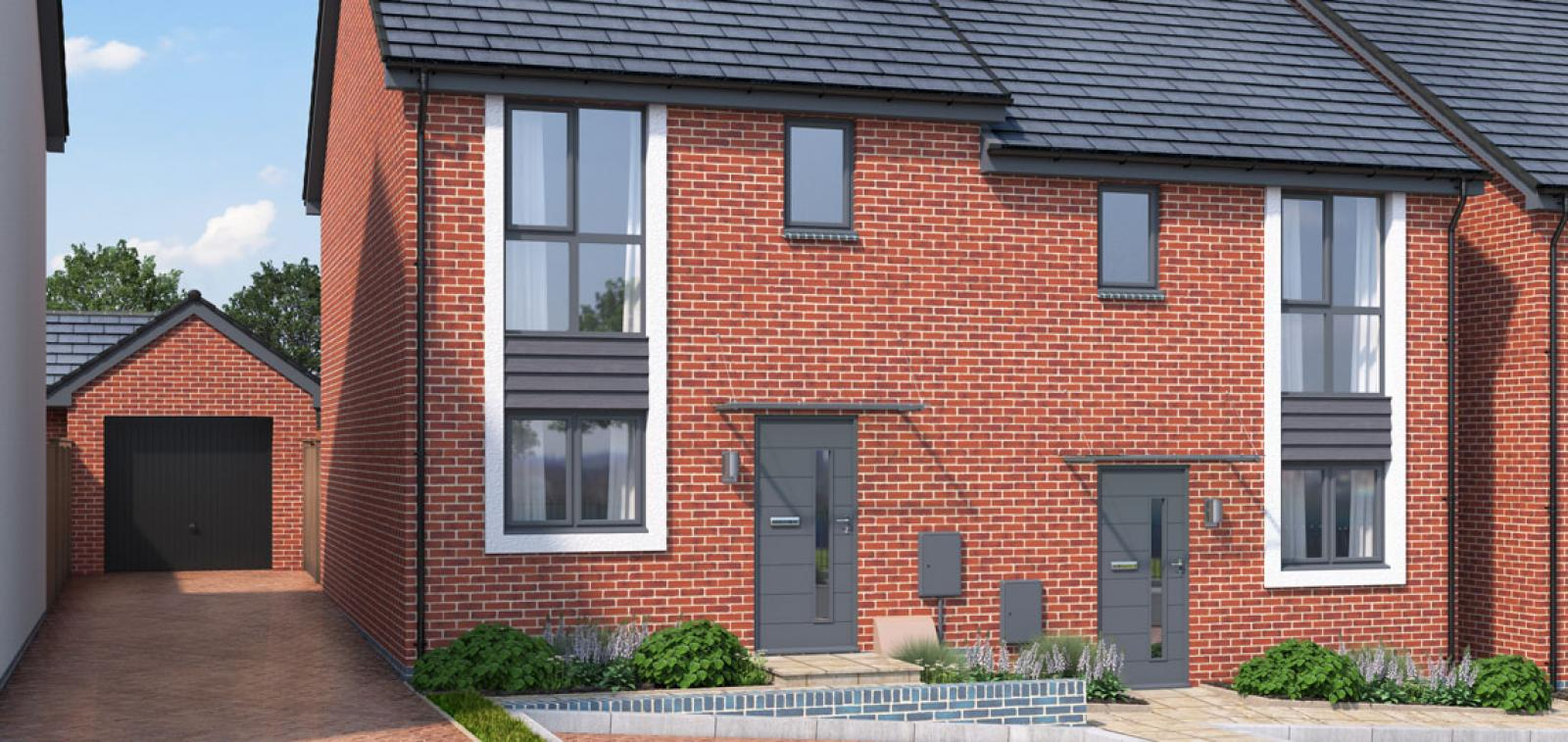 Exterior CGI of The Beech at Chestnut Meadows