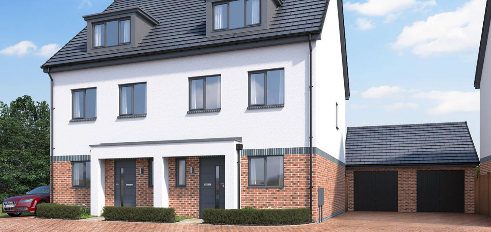 Exterior CGI of The Oak at Chestnut Meadows