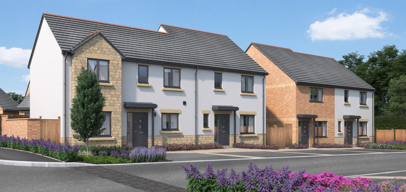 CGI of the new Kingsfield development in Glastonbury