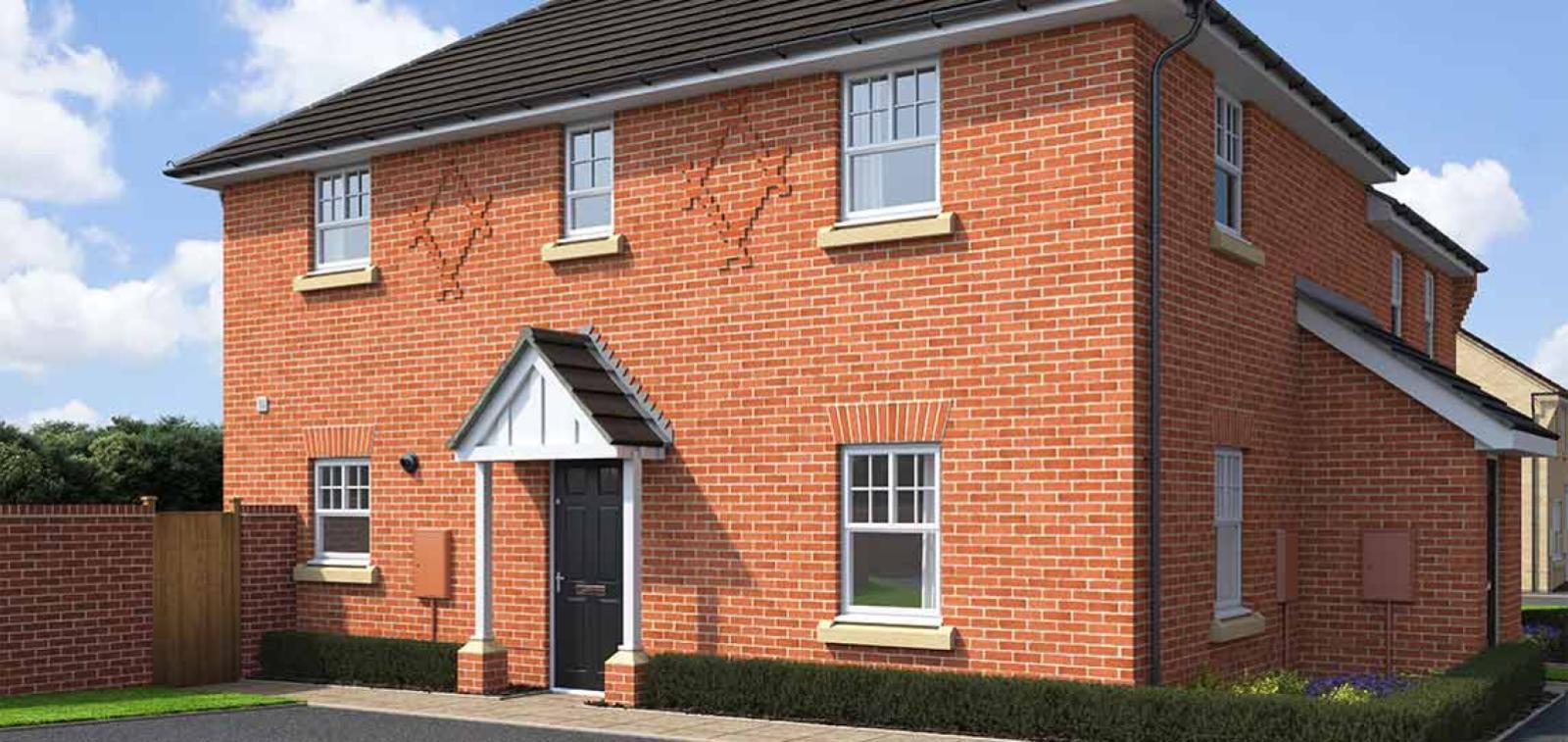 CGI rendering of the Leeward house type at High Elms Park