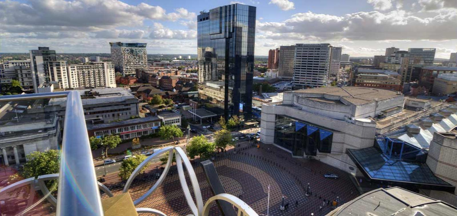 Aerial photograph of Birmingham city centre