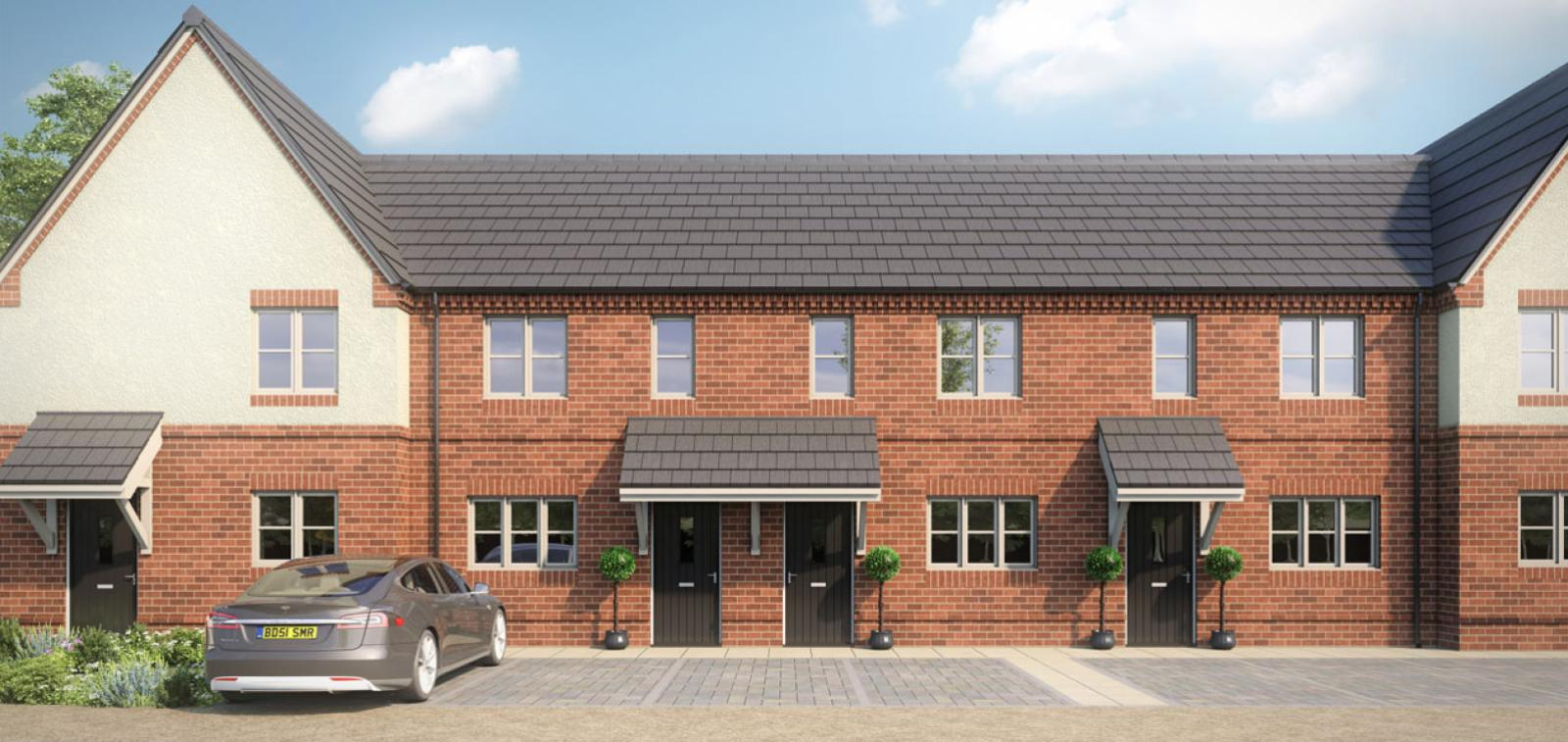CGI of our 2 bedroom terraced houses at Orchard View