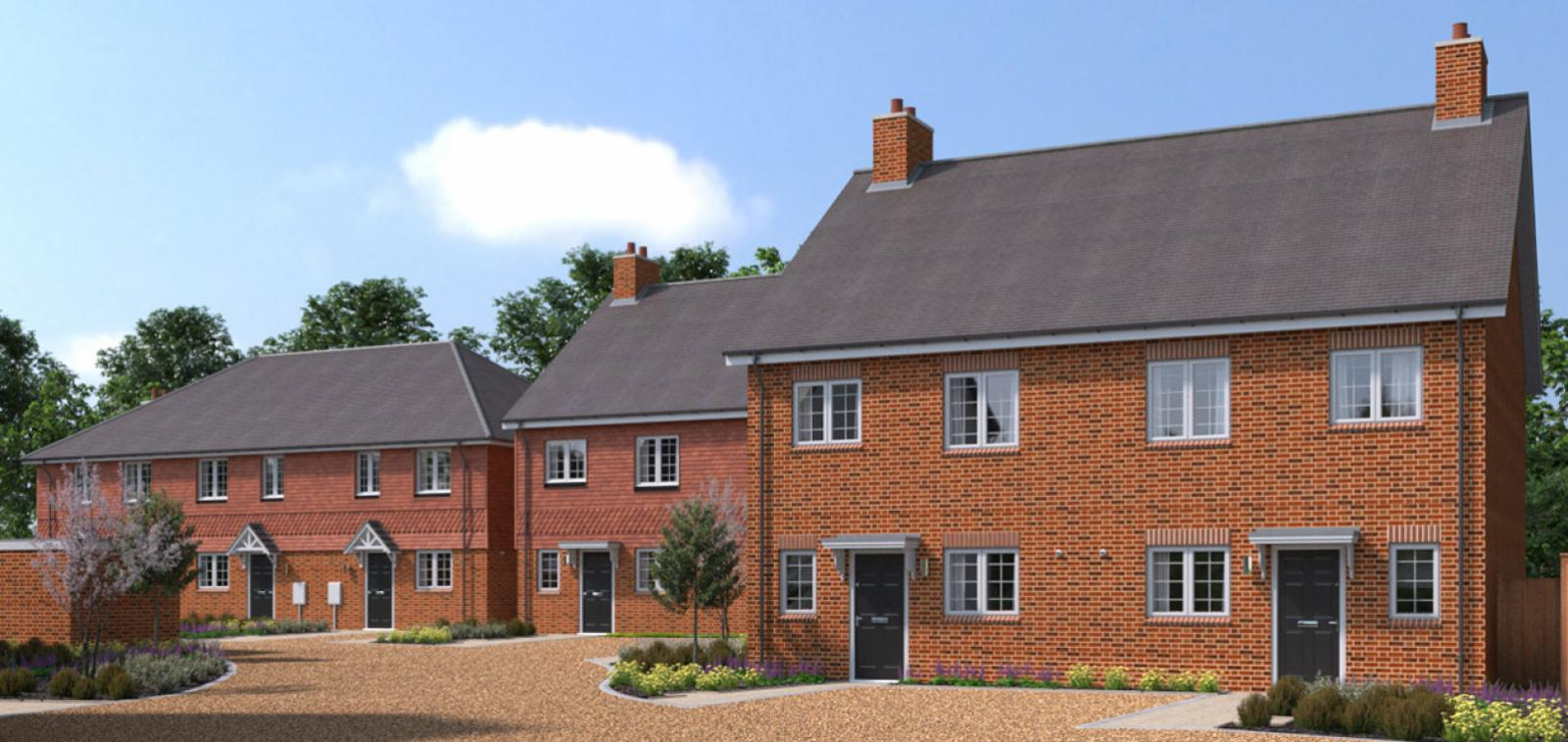 CGI showing the Gatton Grove development in Merstham, Surrey