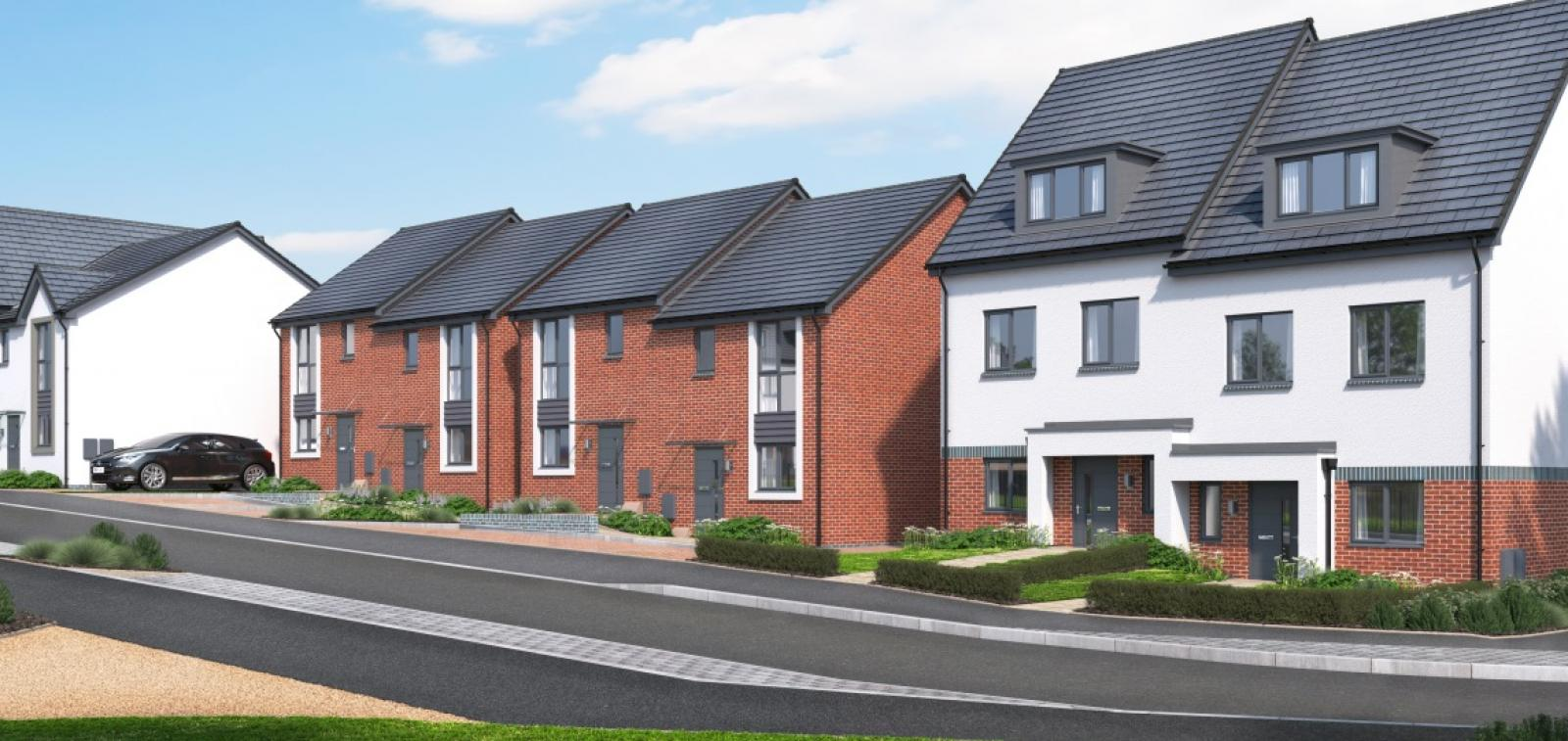 CGI of a new Sanctuary Homes development in Gloucester