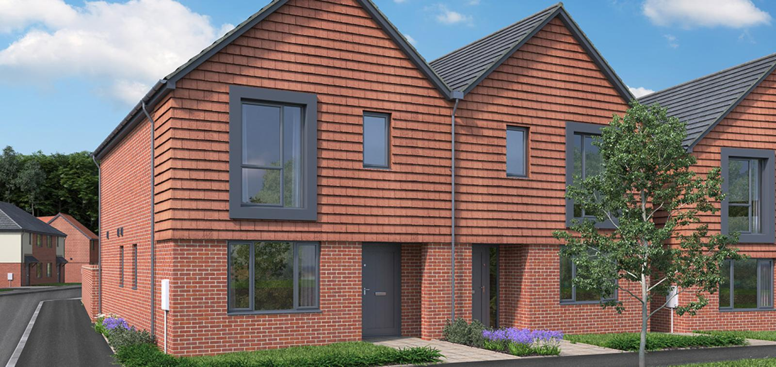 CGI showing the exterior of The Abberton