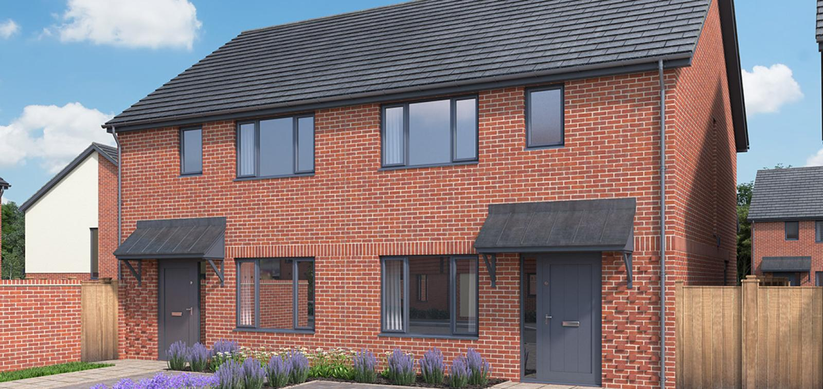 CGI showing the exterior of The Hythe