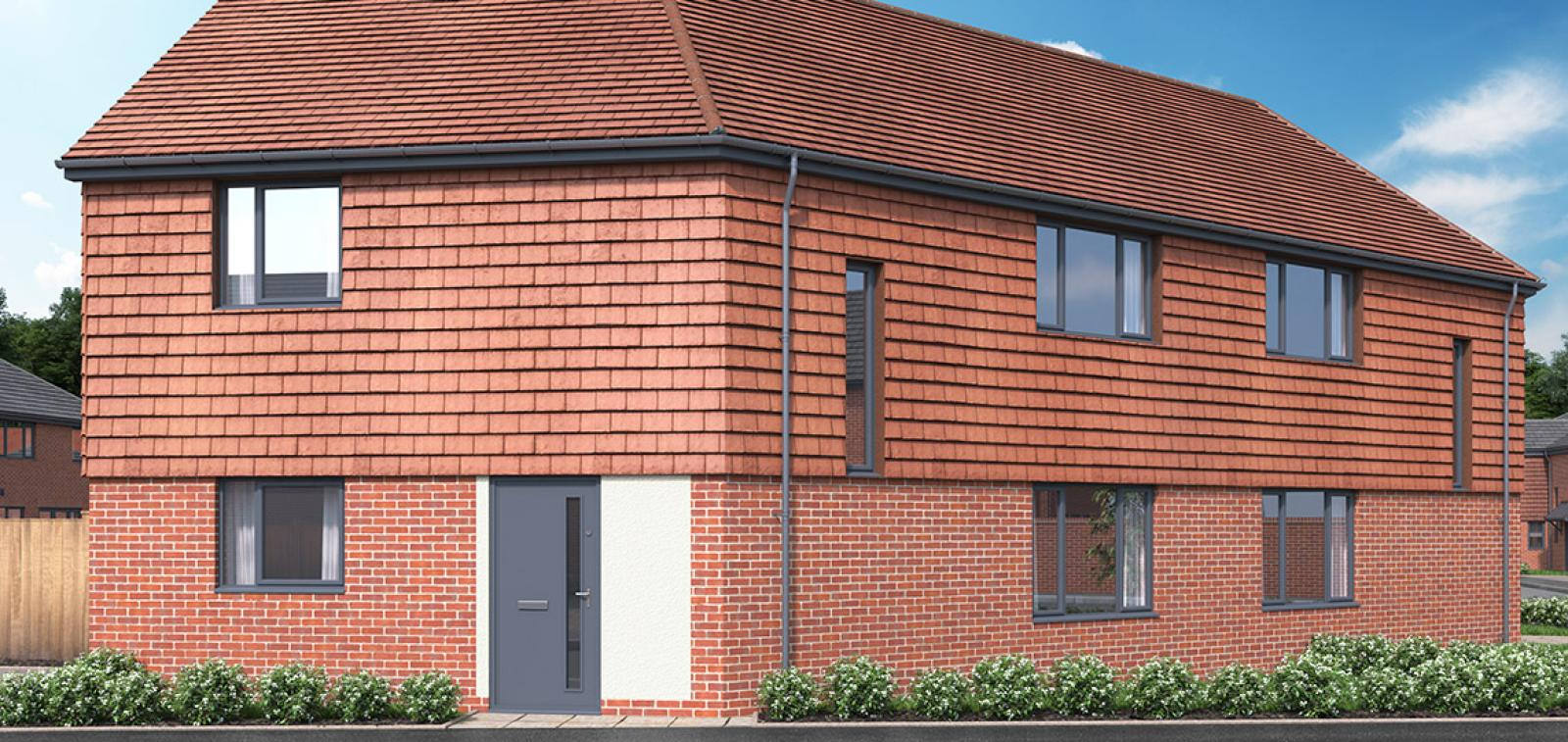 CGI showing the exterior of The Lexden