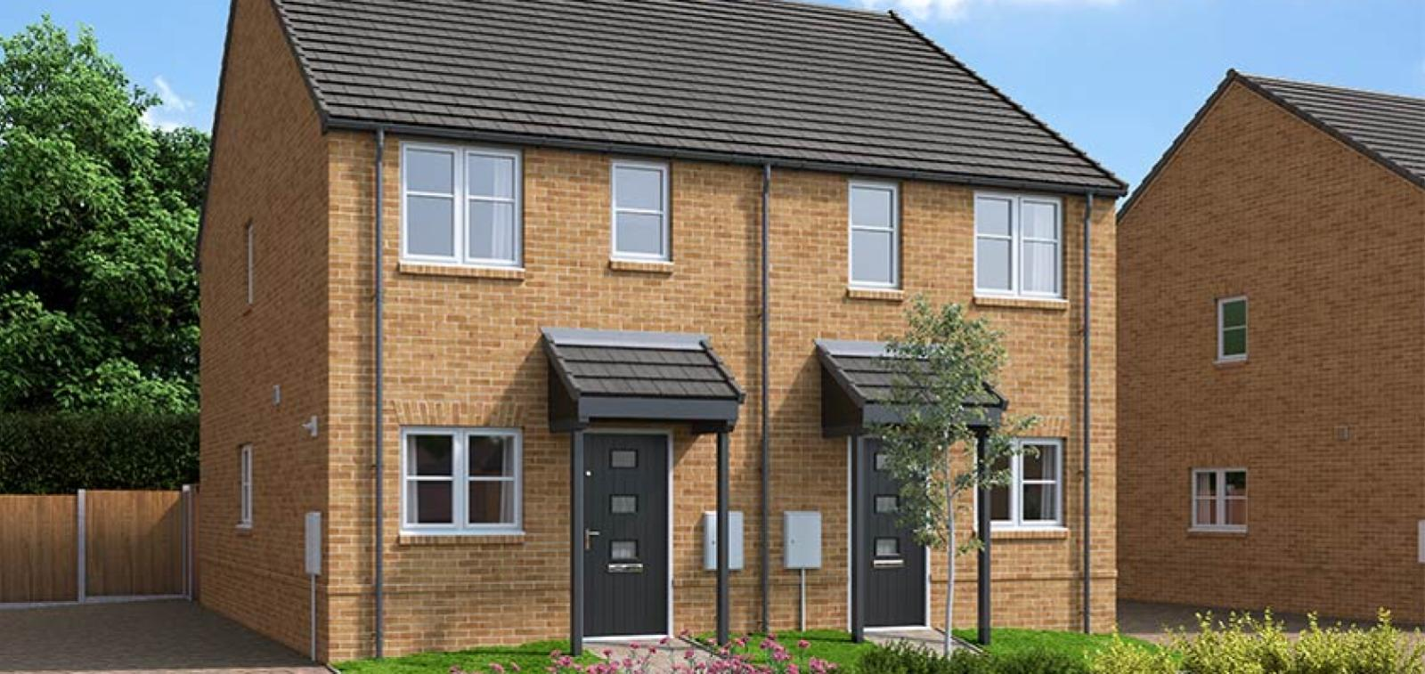 The Proposed Exterior (CGI) Of The Ellison, A 2 Bed Semi-Detached House
