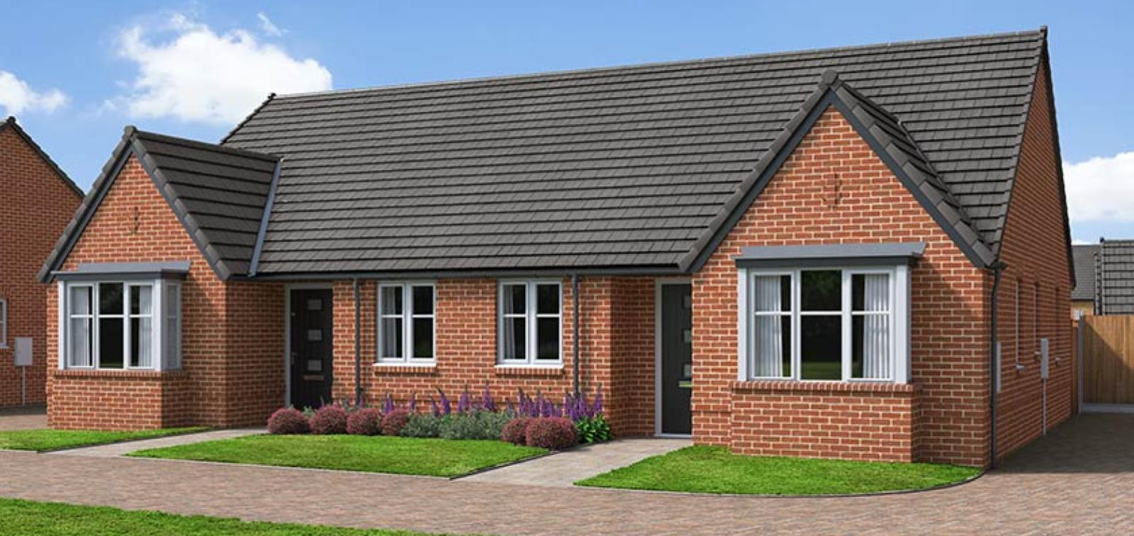 The Proposed Exterior (CGI) Of The Foxwhelp, A 2 Bed Semi-Detached Bungalow