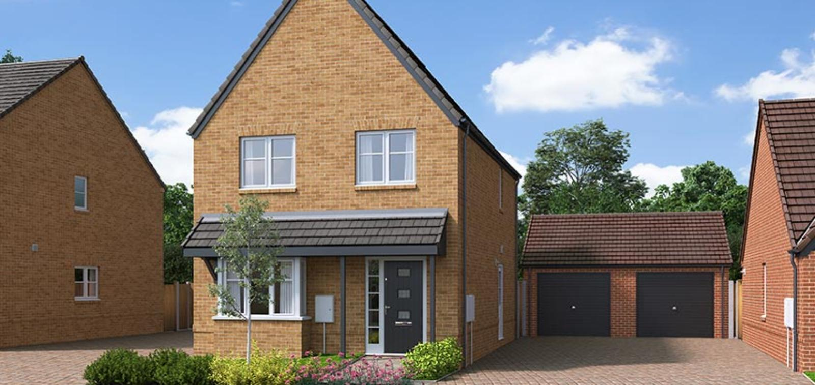 The Proposed Exterior (CGI) Of The Gala, A 3 Bed Detached House