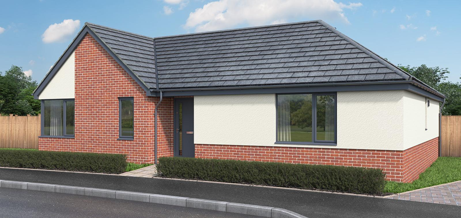 CGI showing the exterior of The Sixpenny