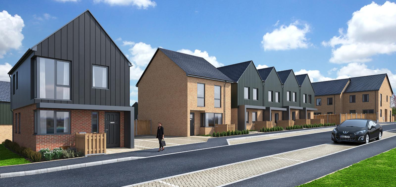 Street scene at our Watling Gate development