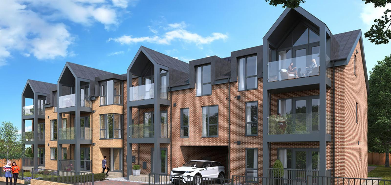 CGI showing The Westcliffs development in Essex